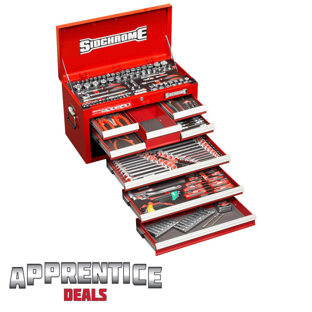 Sidchrome Apprentice 204 Pc Met-A/F Tool Kit